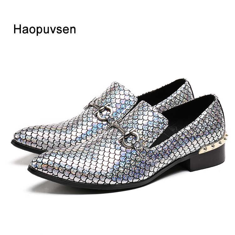 Новые туфли из натуральной кожи мужские туфли на плоской подошве мужские  блестящие туфли с блестками мужские 97eb55df1f1