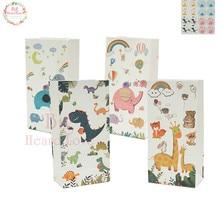 12 шт. украшения для дня рождения, детские подарочные бумажные пакеты для сафари, сумки для конфет, Подарочная коробка, Подарочная сумка для детского душа, вечерние сумки с тематикой джунглей