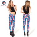 2016 women leggings hot sale blue cartoon printing multi color free size high elastic Ladies leisure Leggings woman pencil pants