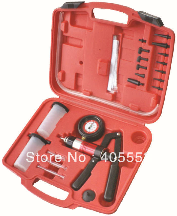 21 PCS VACUUM/PRESSURE PUMP & BRAKE BLEEDING KIT AUTOMOTIVE TOOLS WT04B4030