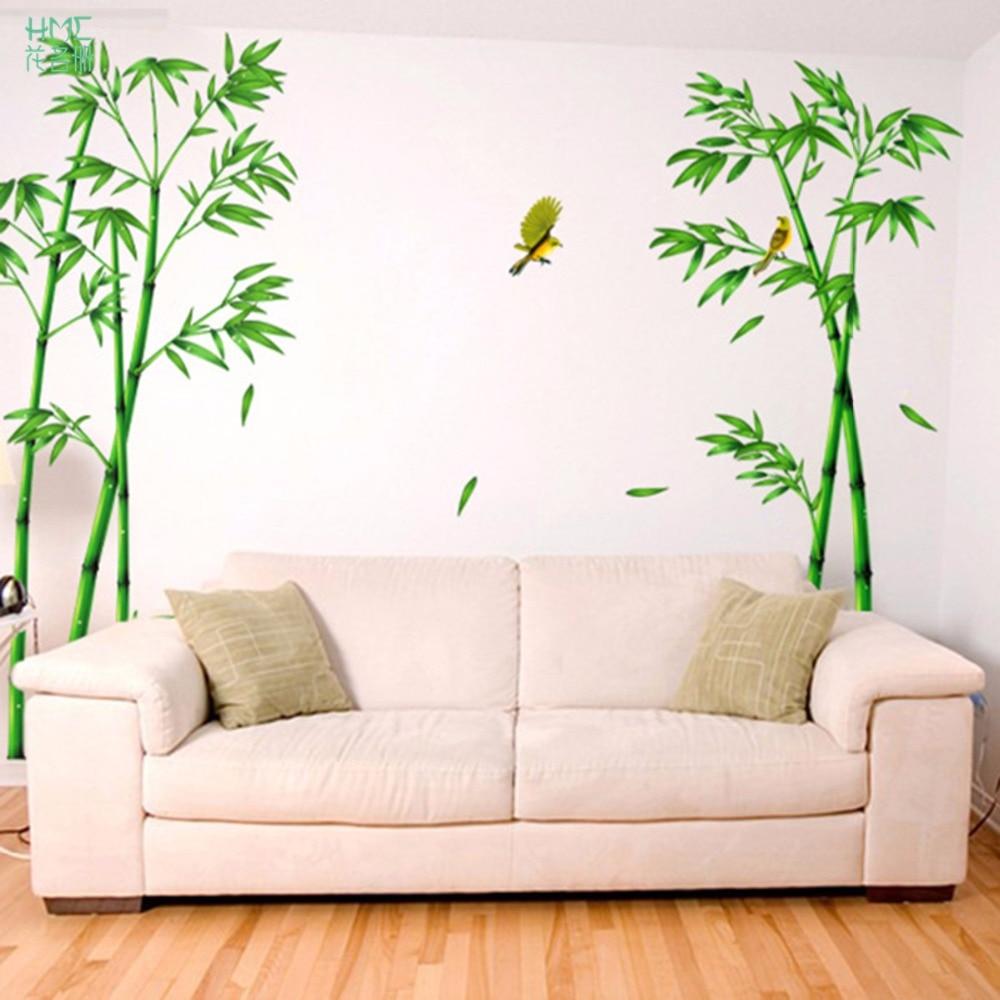 Aliexpress Grner Bambus Wald Wandaufkleber Vinyl DIY Dekorative Wandkunst Fr Wohnzimmer Schrank Dekoration Wohnkultur Von Verlsslichen Forest Wall