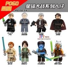 8pcs PG8034 Luke Grand Moff Tarkin Han Anakin Obi-Wan Jedi star wars building blocks model bricks toys for children juguetes