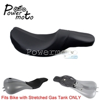 Motorcycle Biker 2up Stretched Gas Tank Passenger Seat Saddle Cushion for Harley Touring Road King Electra Glide Classic 97 08