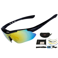 LOCLE Polarized UV400 Cycling Glasses 6 Color Cycling Eyewear Men Women Unisex Outdoor Spor