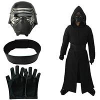 2018 Star Wars The Last Jedi Kylo Ren Ben Solo Cosplay Costume Kids Boys Mens Uniform
