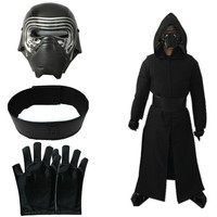 2018 Star Wars The Last Jedi Kylo Ren Ben Solo Cosplay Costume Kids Boys Mens Uniform