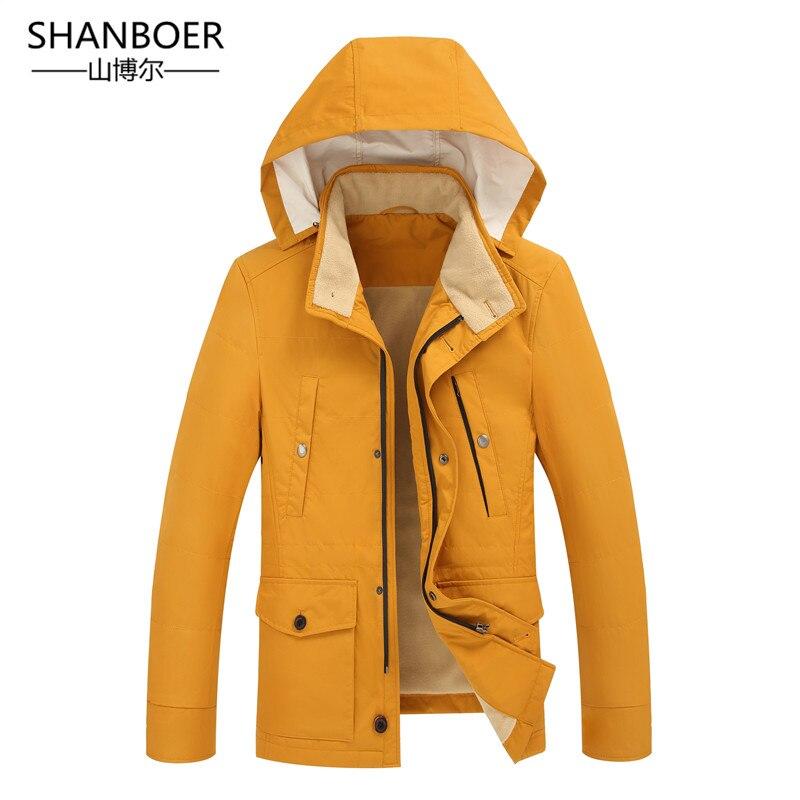 Chaqueta de invierno hombres con capucha coreano Delgado Parka Hombre Chaqueta larga para Hombre de la Cachemira cazadora Parkas algodón ropa juvenil