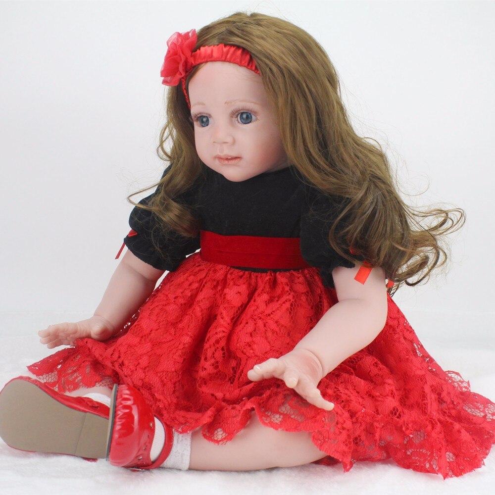 Poupée NPK 60 cm grande taille reborn enfant en bas âge princesse Silicone vinyle adorable réaliste Bebe Bonecas reborn fille jouets cadeau