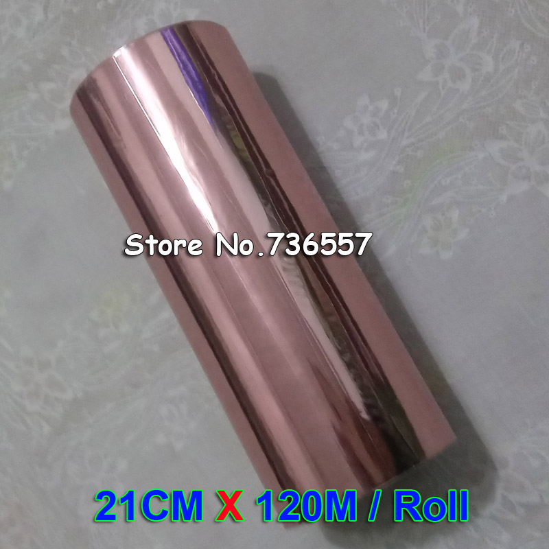 21cmx120M Roll Rose Gold Hot Stamping Foil Paper Golden Gilding Transfer Elegance DIY Hot Stamp Roll