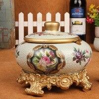 Wohnzimmer Im Europäischen stil keramik aschenbecher aschenbecher personalisierte dekoration handwerk ornamente fabrik großhandel-161G