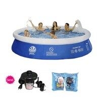 Несколько размеров синий AGP бассейн для дачи семья надувной бассейн для взрослых и детей воды Лето Большой бассейны