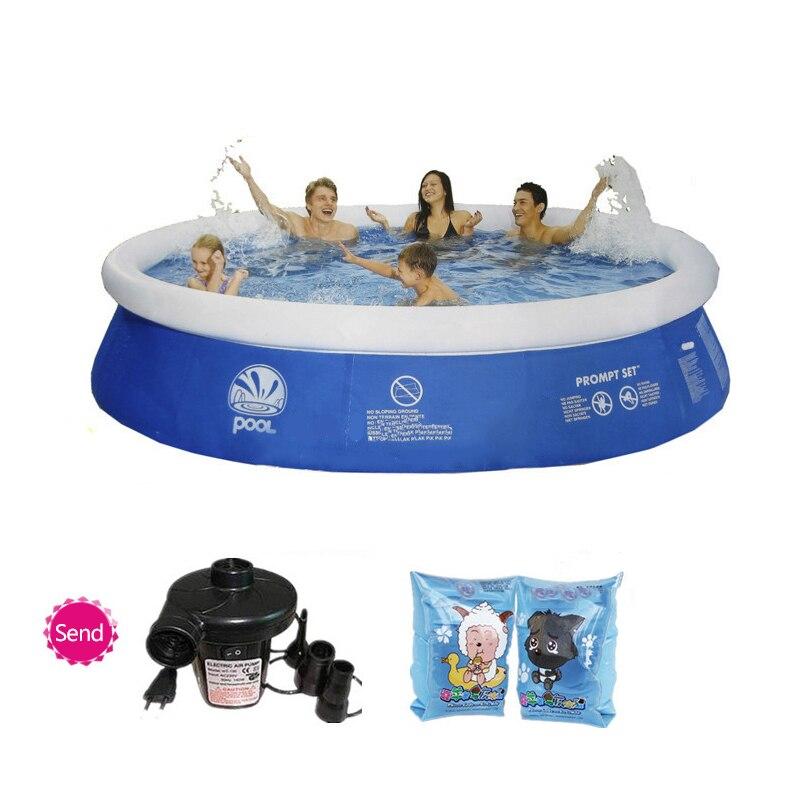 Plusieurs tailles bleu AGP piscine hors sol famille piscine gonflable adulte enfants d'été de l'eau grande piscine
