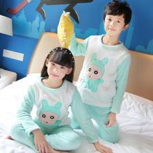 Winter Pajama Sets for girls Children Soft Fleece Pyjamas Baymax Flannel Sleepwear kids Warm Loungewear Coral Fleece Homewear QM