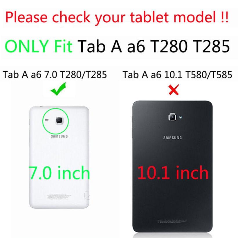 Funda de cuero de moda para Samsung Galaxy Tab A6 7.0 T280 T285 - Accesorios para tablets - foto 2