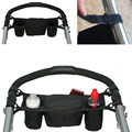 Baby Stroller Carriage Travel Bag Baby Jogger Parent Console Organizer Double Cup Holder -- MKC010 PT49