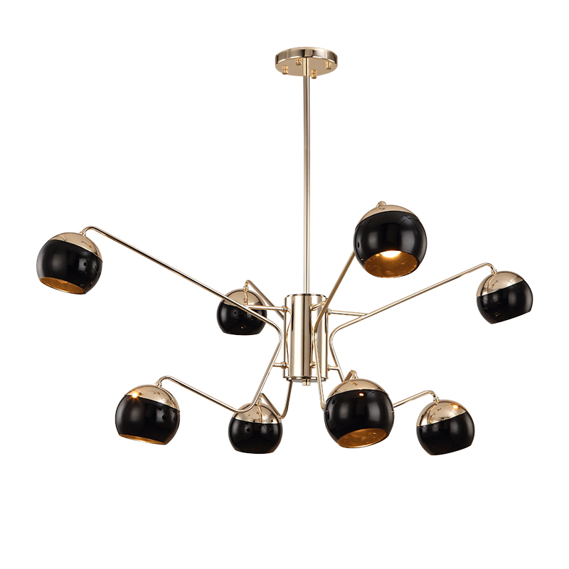 Modern fashion Designer Loft  Creative spider shape 6/8/12 heads pendent lamp for Living Room Dining Room Villa decor Ac90-265v postmodern minimalist fans glass art decor chandeliers g9 6 9 heads creative pendent lights living rooms dining room bedroom