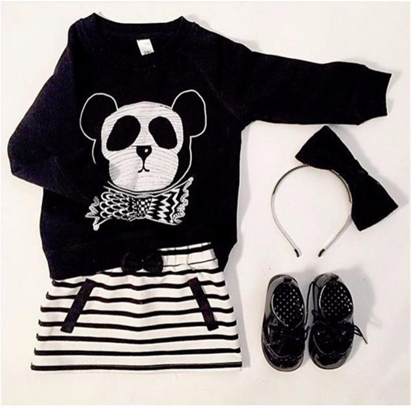 8For Boys Girls Sweater T-Shirts Clothes Autumn Winter New Panda Bear Printing Tops Kids Sweatershirt  Tees Clothing Full Sleeve 15