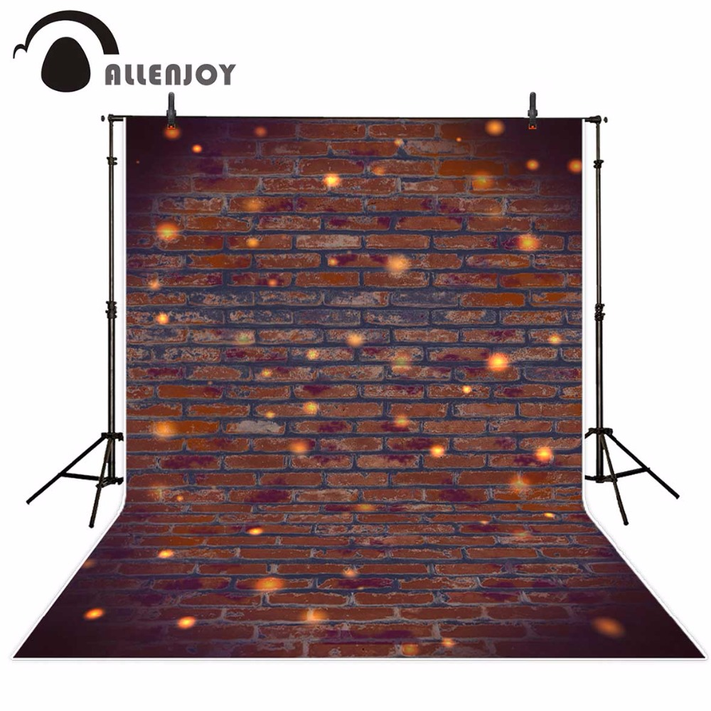 Allenjoy dark brick wall photography backdrop for photo studio vintage glitter decoration Background photocall photobooth new allenjoy photography backdrop library books student child newborn photo studio photocall background original design