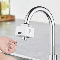 Smart Double Induction Faucet Water Filter Water Saving Kitchen Infrared Sensor Faucet No Touching Automatic Water Out Device