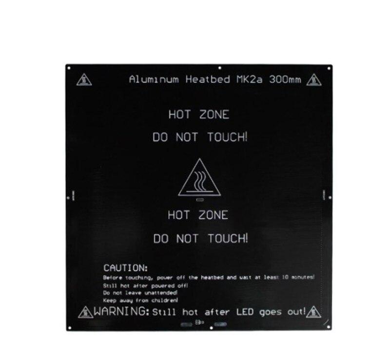 12/24 V 300x300mm PCB MK2A chauffée lit pour Reprap Prusa i3 3D imprimante 3mm épais