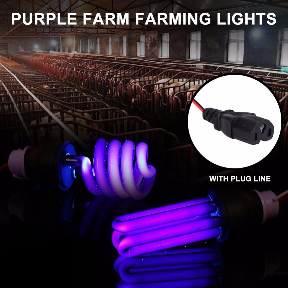 Mabor 30W 48V Insects Moth Attracting Lamp Bulb Fluorescent With Plug Cord Agriculture