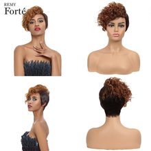 Remy Forte Short Real Human Hair Wig 100% Brazilian Wigs Curly Lace U Part Refresh Breathable Cheap