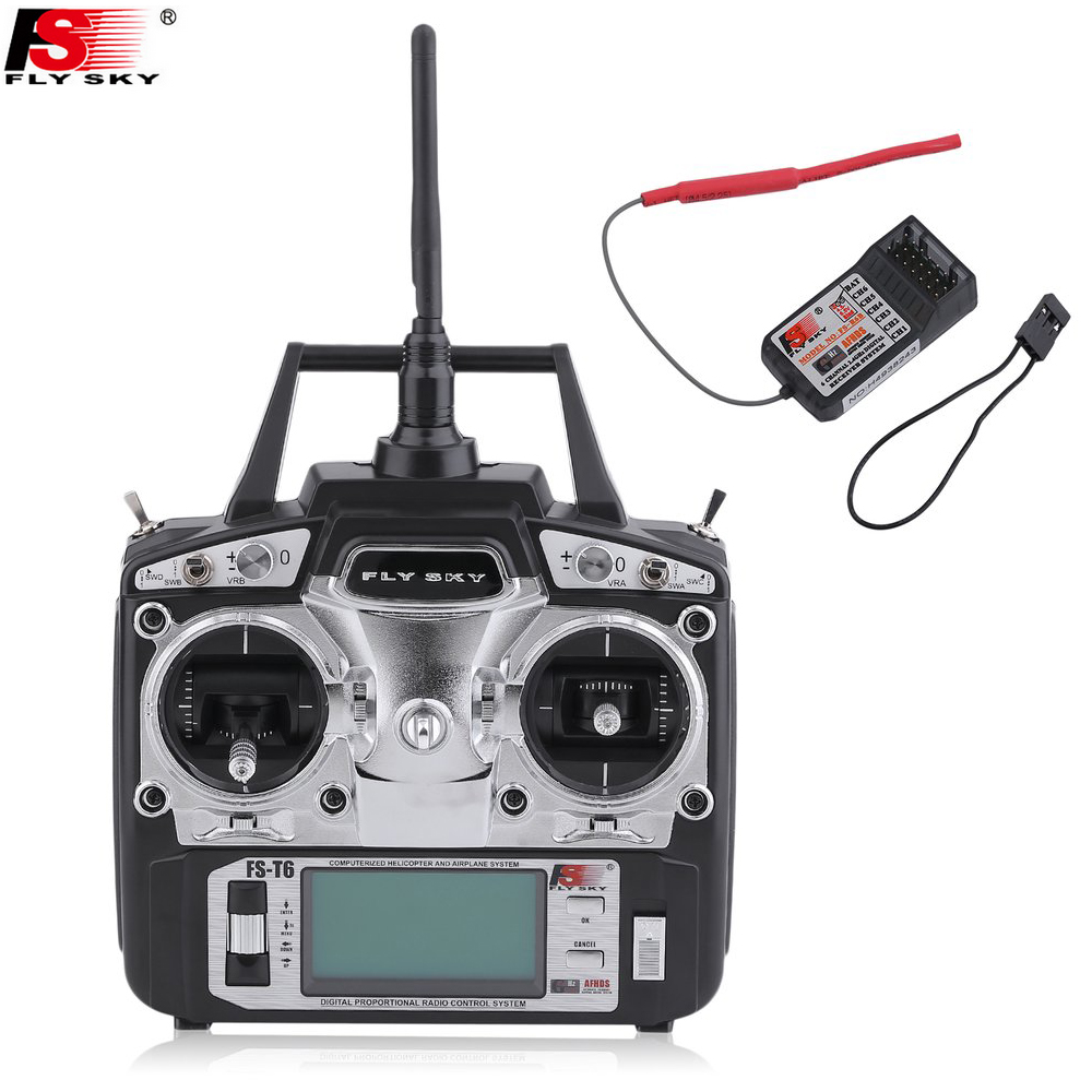 Flysky FS-T6 2.4GHz 6CH Mode 2 Transmitter and Receiver R6-B for RC Quadcopter Helicopter With LED Screen Mode 1 Mode 2 hot original flysky fs t6 2 4ghz 6ch mode 2 transmitter and receiver r6 b for rc quadcopter helicopters with led screen f14912 3