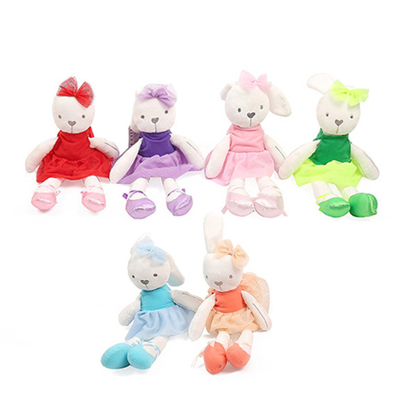 1pc 45cm Cute Rabbit with Pink Dress Baby Plush Toy Soft