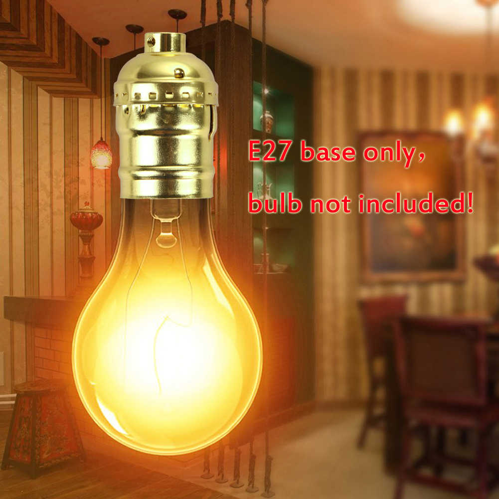 TSLEEN Ceiling Pendant Light E27 Edison Lamp Socket Hang Holder With/Without Wire/Switch Chandelier Base Lampholder Retro