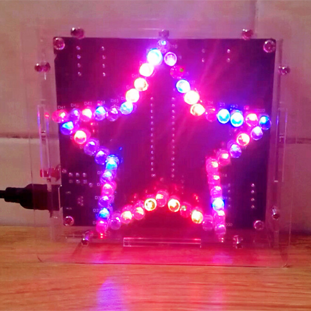 Seven Star 51 SCM Light Water Glare LED Lamp Electronic DIY Kit To Send  Program
