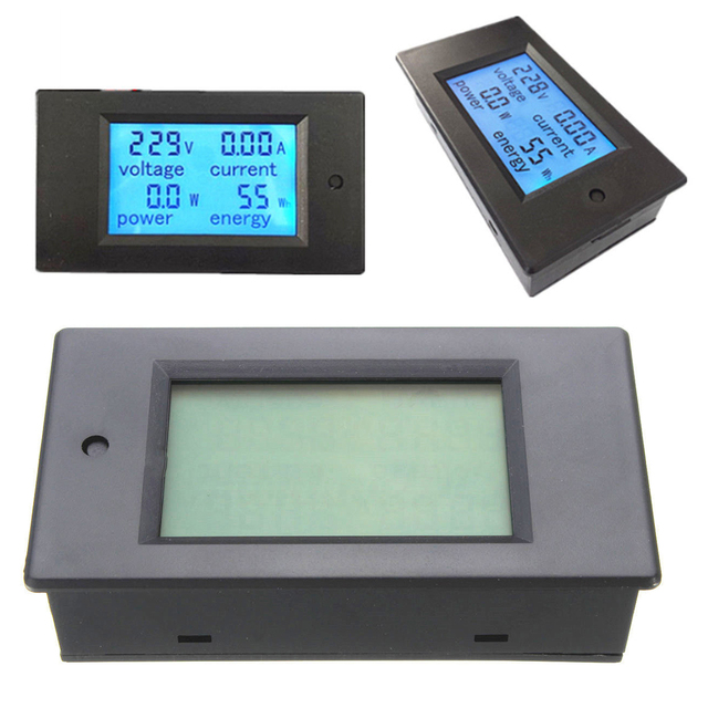 1pc Durable LED Digital Voltage Current Power Monitor Mayitr AC 20A ...