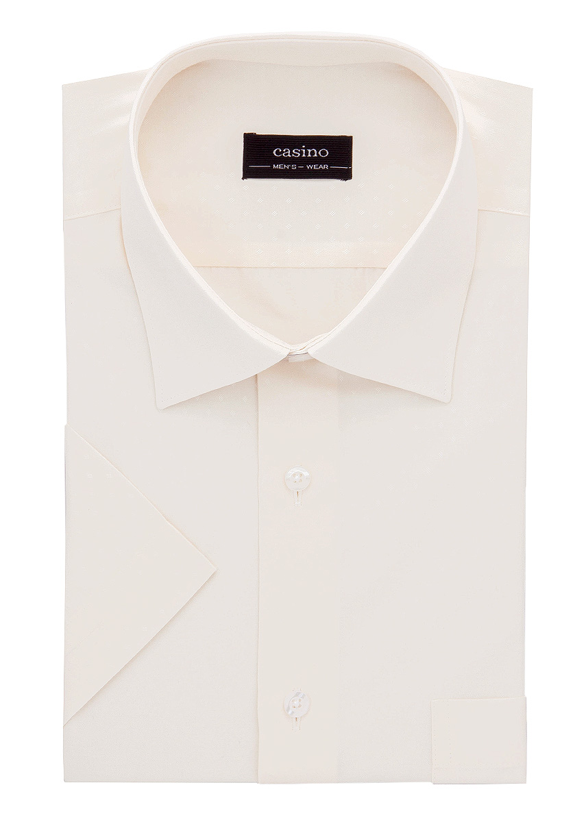 Shirt men's short sleeve CASINO c503/0/9247/Z/RF Beige пуховик five seasons five seasons fi615ewbgdc5