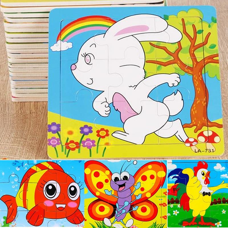 24 stilovi Životinje Drvene 3d Puzzle Dječji Obrazovne igračke - Igre i zagonetke - Foto 4