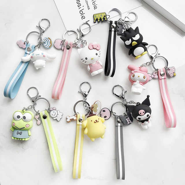 High Quality 2019 New Little Cute Yellow DUCK Key Chain Dancing duck keychain pendant bag accessory DIY Car Key Chains Wholesale