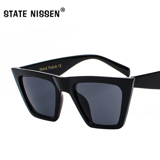 7d88eaa6f7 STATE NISSEN Cat Eye Women Sunglasses Female Sunglasses Brand Designer  Vintage Eyewear oculos de sol feminino