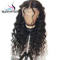 Sunnymay 150% Curly Human Hair Wigs With Baby Hair 360 Lace Frontal Wig Pre Plucked Brazilian Remy Hair Wigs Glueless 360 Wigs