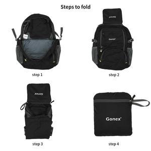 Image 4 - Gonex 30L Ultralight plecak składany plecak miasto torba do szkoły podróży turystyka odkryty Sport czarny 210D Nylon 2019 mężczyzna kobiet