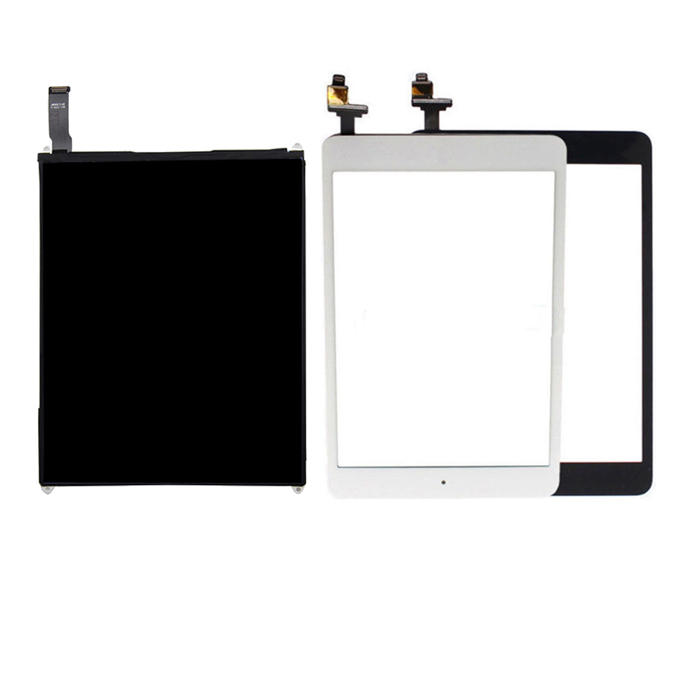 For ipad mini 1 Touch Screen Digitizer panel LCD Display Screen Repair Parts For ipad mini 1 A1432 A1454 A1455 us eu plug 100 240v dc 12v 3 7a home wall power supply ac charger adapter cable for nintendo wii game console host