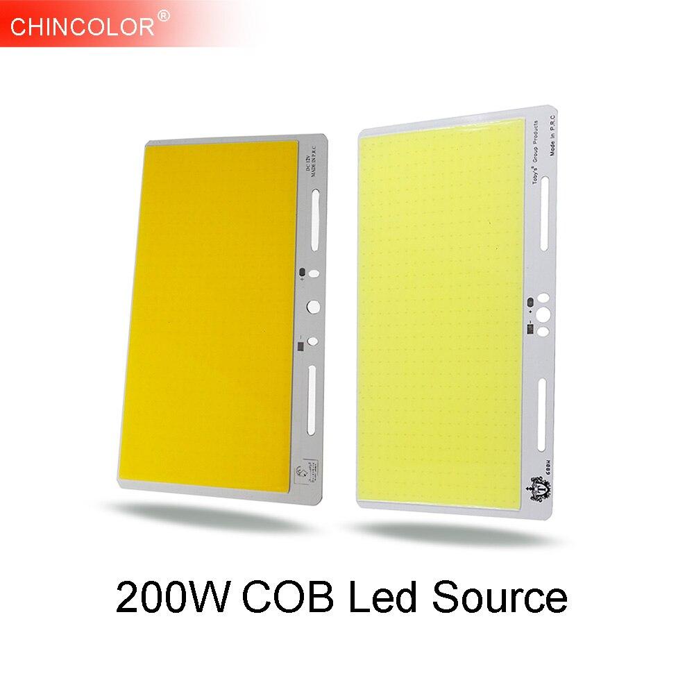 200W COB LED Light Source Lamp Bulb Chip DC 12V-14V Pure Warm White DIY Lights Strips Lamps Outdoor Project Hight Brightness JQ