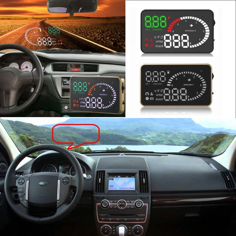 Liislee Car HUD Head Up Display For Land Rover Freelander Discovery Defender Evoque- Safe Screen Projector / OBD II Connector