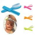 2 pcs seguridad del bebé suave cepillo de pelo peine de aseo ducha paquete de diseño color de rosa/azul/amarillo/verde