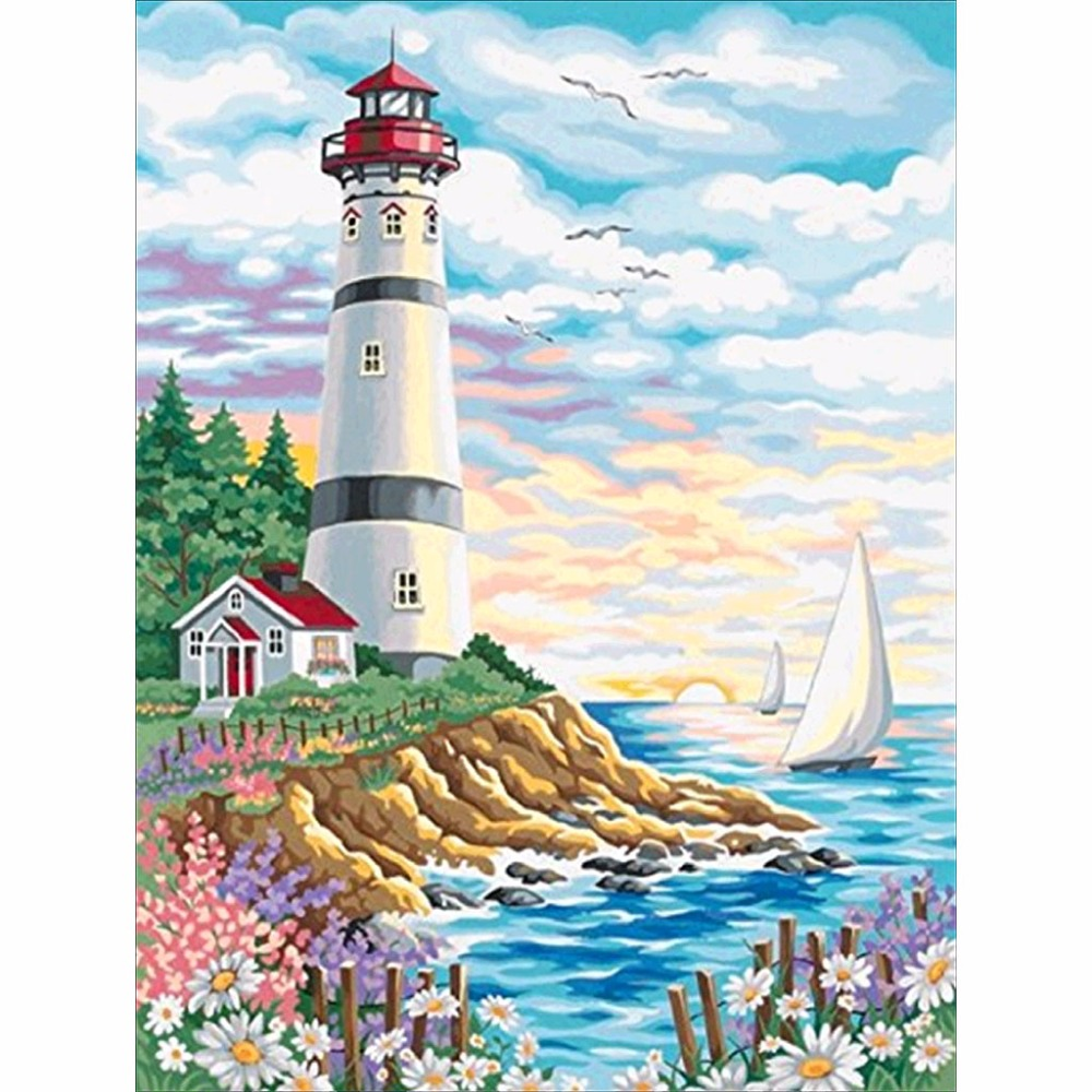 DIY 5D Full Drill Diamond Painting Tower Embroidery Cross Stitch Kit Rhinestone Home Decor Craft Christmas thumbnail