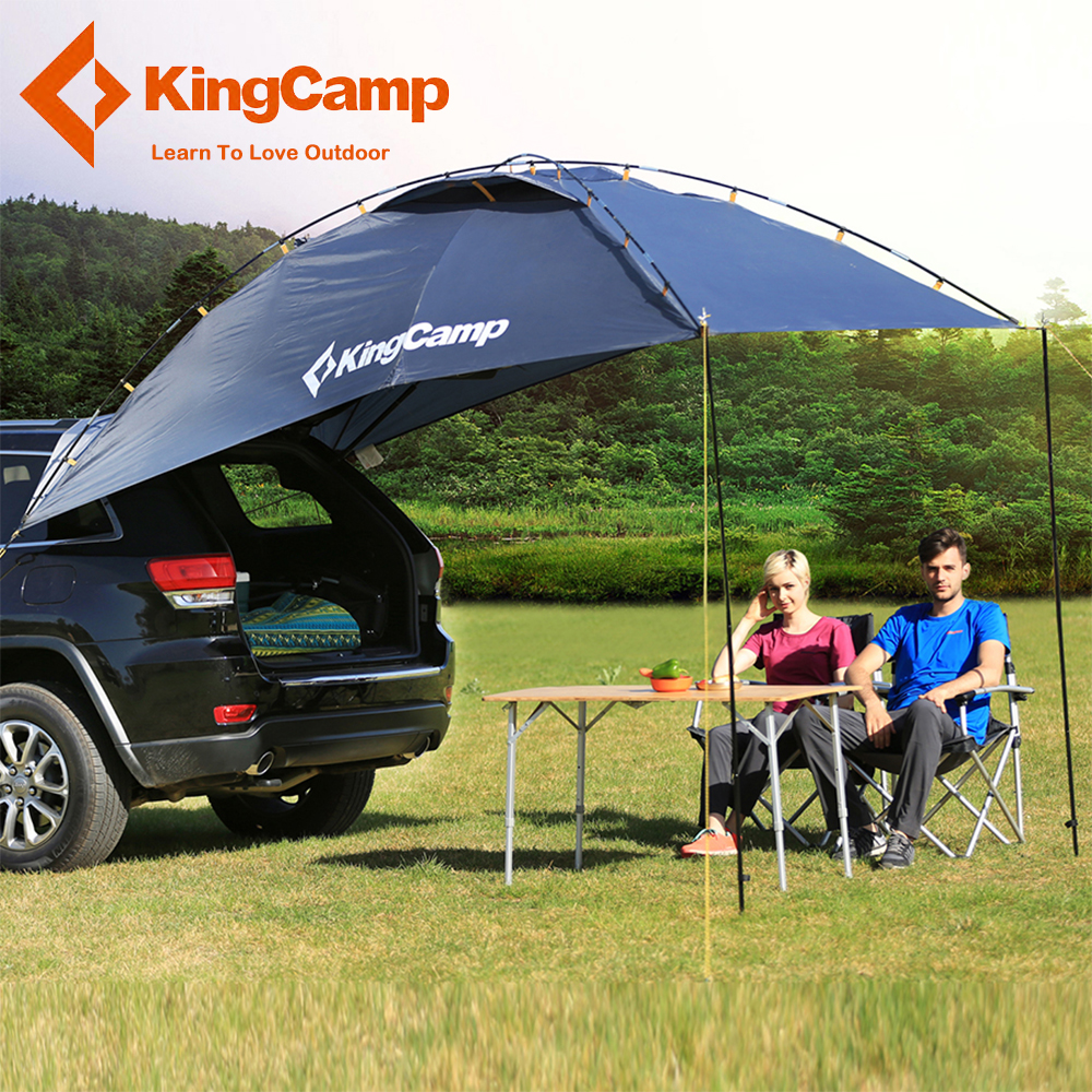 KingCamp Durable 4 Person Car Sun Shelter For Family Self Driving Camping