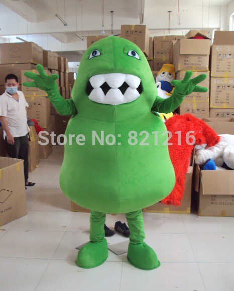 cosplay costumes New Arrival Green Germ Mascot Costume Green Bacteria Mascot Costume Virus Mascot Costume Free