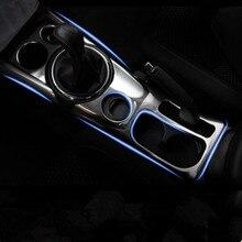 Нержавеющая сталь автомобильная Внутренняя Шестерня панель держатель стакана воды декоративная отделка автомобиля Стайлинг чехол для Mitsubishi ASX авто аксессуары