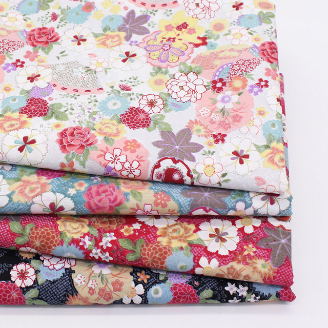 Floral Print Cotton Fabric Home Sewing Fabrics Patchwork Cotton Tissue Home Textile Woven Telas Tecido Japanese Fabric