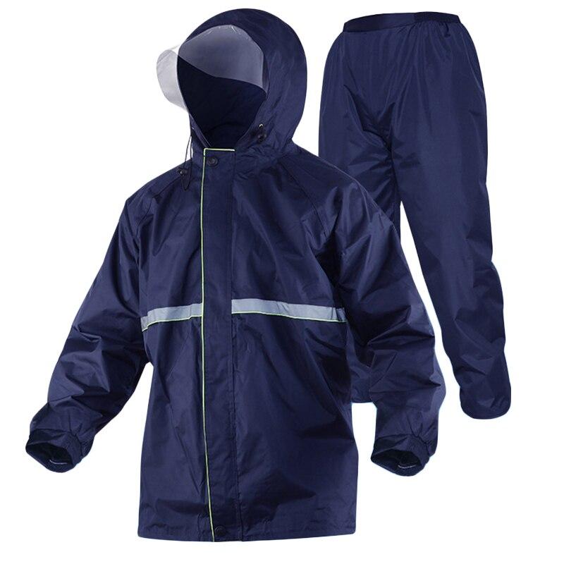 Men Raincoat Sets Waterproof Hooded Jacket + Pants Working Clothing Safety Outdoor Work Travel Rainwear Suits Free SizeMen Raincoat Sets Waterproof Hooded Jacket + Pants Working Clothing Safety Outdoor Work Travel Rainwear Suits Free Size