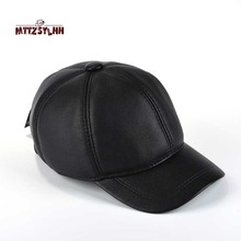 Mens winter warm earmuffs baseball caps durable and artificial leather workmanship dad husbands gift