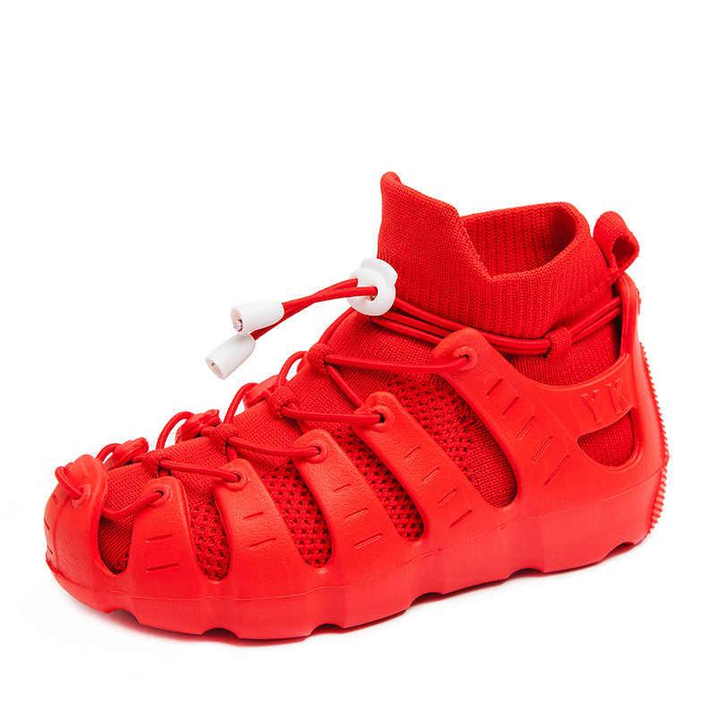 สาวโรมันแฟชั่นรองเท้ารองเท้าผ้าใบชายรองเท้ากลางแจ้งเดินรองเท้าเด็กรองเท้าถุงเท้ารองเท้าแตะรองเท้าแตะ