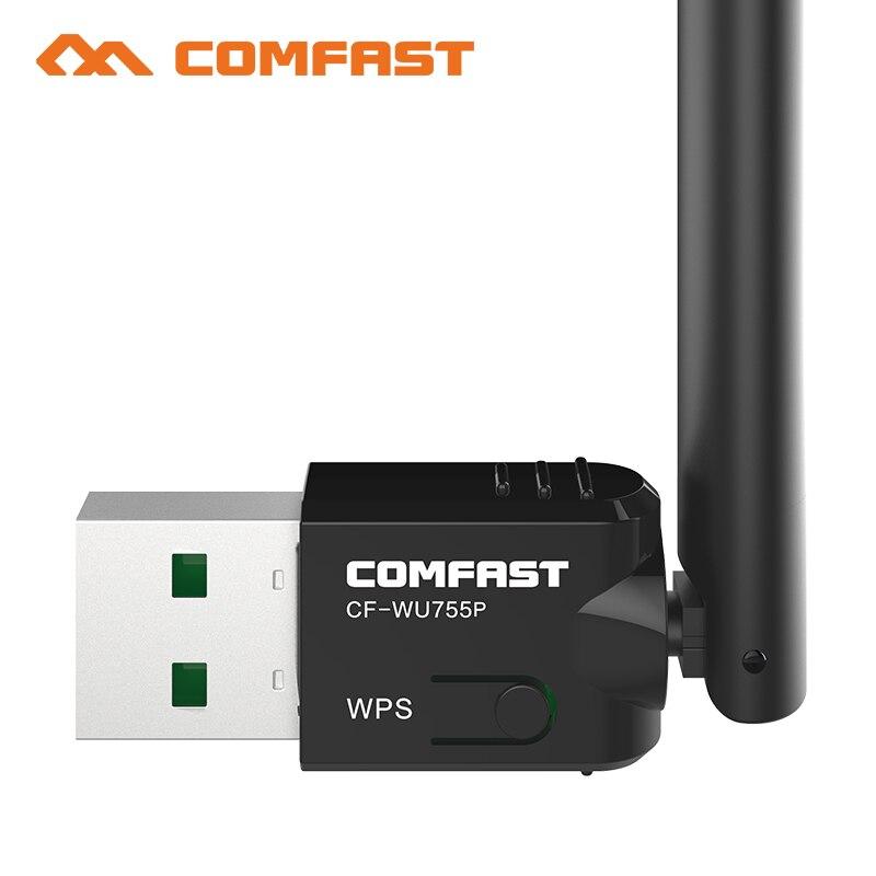 Comfast CF-WU755P 5dBIWiFi Antenna 150Mbps USB Wireless Wifi Adapter 802.11b/n/g 2.4GHz PC Mini Computer Network Card Receiver